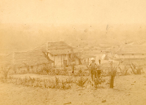 Photo of Kinshasa, in what is now the Democratic Republic of the Congo, circa 1883-1885, shortly after its founding. The growth of Kinshasa and other cities in the region may have been crucial to the emergence of HIV/AIDS, according to research published in the journal Nature. (The Royal Museum for Central Africa)